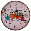Owl Style Wooden Wall Clock