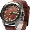 NAVIFORCE 9055 Men Leather Band Quartz Watch deal
