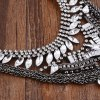 Vintage Rhinestone Layered Beads Water Drop Necklace deal