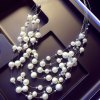 Graceful Layered Faux Pearl Necklace For Women deal