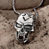 best N023 Titanium Fashion Chain 316L Stainless Steel Vintage Pendant Necklace