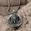 best N028 Titanium Fashion Chain 316L Stainless Steel Vintage Pendant Necklace