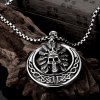 N028 Titanium Fashion Chain 316L Stainless Steel Vintage Pendant Necklace for sale