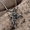 N034 Titanium Fashion Chain 316L Stainless Steel Vintage Pendant Necklace for sale