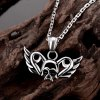 best N008 316L Stainless Steel Vintage Pendant Necklace