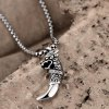 best N044 316L Stainless Steel Vintage Pendant Necklace