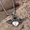 best N046 Titanium Fashion Chain 316L Stainless Steel Vintage Pendant Necklace