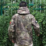 Buy Python pattern camouflage Men Hard Shell TAD Tactical Waterproof Jacket-52.79 Online Shopping GearBest.com