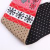Chic Woolen Yarn Ball Pendant Christmas Snowman Pattern Warmth Scarf For Kids for sale