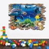 cheap 3D Underwater World Style Wall Decals