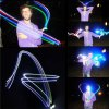 4 x Colorful Finger Light Toy Battery Power LED Ring Great Props for Halloween