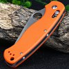 best Ganzo G729-OR Axis Lock Folding Knife Pocket Clip