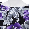best Retro Style Round Collar Sleeveless Floral Print A-Line Pleated Women Pin Up Dress