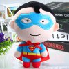 19cm Cute Superman Design Plush Doll Pendant with Sucker Christmas Gift