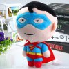 cheap 19cm Cute Superman Design Plush Doll Pendant with Sucker Christmas Gift