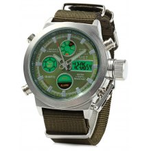 AMST AM3003 Dual Movt Men LED Sports Watch