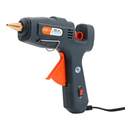 SD-A 60W Electric Heating Glue GunOther Tools<br>SD-A 60W Electric Heating Glue Gun<br><br>Model: SD-A<br>Material: Plastic<br>Color: Black<br>Type: Electric tools<br>Special Features: Electric Heating Glue Gun<br>Function: Repair Heat Tool<br>Certificate: CE<br>Product weight : 0.274 kg<br>Package weight : 0.387 kg<br>Product size (L x W x H) : 18.8 x 16.8 x 3.9 cm / 7.39 x 6.60 x 1.53 inches<br>Package size (L x W x H) : 27.7 x 23 x 6.1 cm / 10.89 x 9.04 x 2.40 inches<br>Package Contents: 1 x SD-A 60W Electric Heating Glue Gun