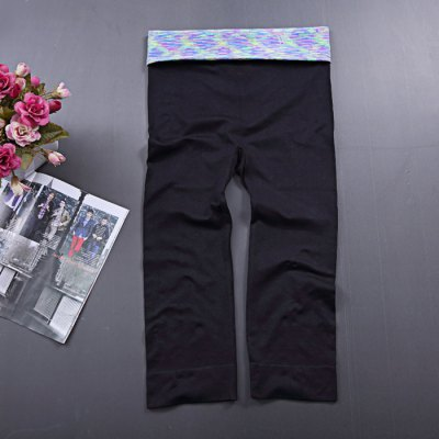 Women Elastic Yoga Pants Cropped Trousers for FitnessYoga<br>Women Elastic Yoga Pants Cropped Trousers for Fitness<br><br>Type: Pants, Cropped Trousers<br>Gender: Female<br>Closure Type: Elastic Waist<br>Size: M, L<br>Material: Polyester<br>Color: Purple, Orange, Green, Grey, Blue<br>Product Weight: 0.220 kg<br>Package Weight: 0.260 kg<br>Package Size: 24 x 14 x 2.5 cm / 9.43 x 5.50 x 0.98 inches<br>Package Content: 1 x Yoga Cropped Pants