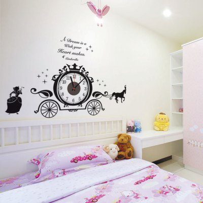 Horse Drawn Vehicle Pattern DIY Clock Wall DecorationWall Stickers<br>Horse Drawn Vehicle Pattern DIY Clock Wall Decoration<br><br>Type: Wall Clock<br>Theme: Animals<br>Style: Modern, Cute<br>Time Display: Digital, Analog<br>Material: Plastic, ABS, PVC<br>Shape: Irregular, Novelty<br>Color: Black<br>Product weight   : 0.180 kg<br>Package weight   : 0.250 kg<br>Product size (L x W x H)   : 85 x 55 x 3 cm / 33.41 x 21.62 x 1.18 inches<br>Package size (L x W x H)  : 19 x 32 x 4.5 cm / 7.47 x 12.58 x 1.77 inches<br>Package Contents: 1 x DIY Wall Clock, 1 x Wall Sticker