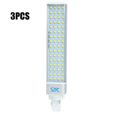 3pcs SZFC G24 12W 64 x SMD 2835 1160LM LED Horizontal Plug Light