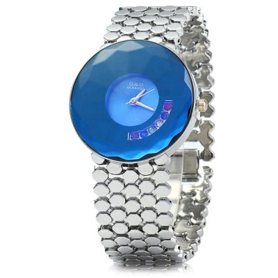 GND Diamond-shaped Mirror Women Quartz Watch Bracelet