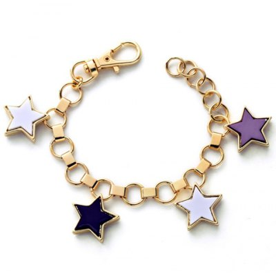 Vintage Pentagram Hollow Out Charm Bracelet