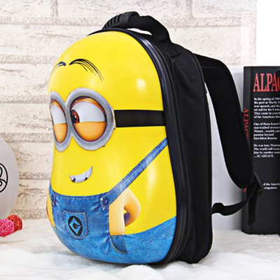 Practical Bee-do Shape Schoolbag for ChildrenStorage Holders &amp; Racks<br>Practical Bee-do Shape Schoolbag for Children<br><br>Type: Backpack<br>Style: Cartoon<br>Material: Nylon,Plastic,Silicone<br>Product weight: 0.494 kg<br>Package weight: 0.594 kg<br>Product size (L x W x H): 33.00 x 25.00 x 15.50 cm / 12.99 x 9.84 x 6.10 inches<br>Package size (L x W x H): 36.00 x 27.00 x 18.50 cm / 14.17 x 10.63 x 7.28 inches<br>Package Contents: 1 x Schoolbag