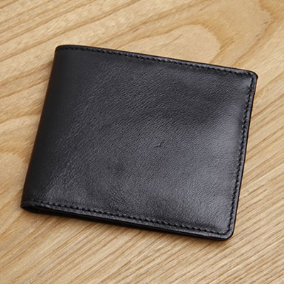 Male Cowhide Short Wallet
