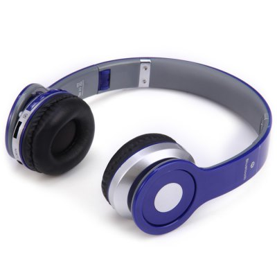 Фотография S450 Extensible Bluetooth Hands Free Stereo Headset FM Music Headphone with Mic 3.5mm Jack TF Card Slot