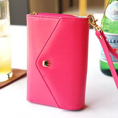 Female PU Crown Decor Short Wallet