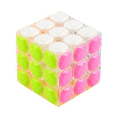 3 x 3 x 3 Colorful Magic Cube Diamond Style Brain Teaser Educational Toy for Gift — Skill Level 3
