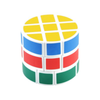 Cylinder Style Colorful Cool Magic Cube 3 x 3 x 3 Educational Toy Kid Gift - White BaseClassic Toys<br>Cylinder Style Colorful Cool Magic Cube 3 x 3 x 3 Educational Toy Kid Gift - White Base<br><br>Type: Magic Cubes<br>Difficulty: 3x3x3<br>Material: ABS<br>Age: Above 8 year-old<br>Package Weight   : 0.088 kg<br>Package Size (L x W x H)  : 7 x 7 x 7 cm / 2.75 x 2.75 x 2.75 inches<br>Package Contents: 1 x Magic Cube