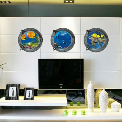 Underwater Paradise Style 3D Removable Wall Sticker