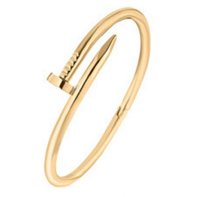 Trendy Solid Color Nail Shape Cuff Bracelet For Women