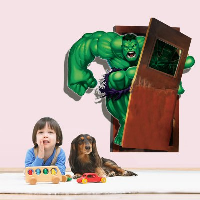 ФОТО Green Giant Pattern Design 3D Removable Wall Sticker