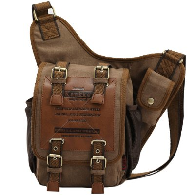 KAUKKO FH03 Vintage Style 5L Male Sling BagSling Bag<br>KAUKKO FH03 Vintage Style 5L Male Sling Bag<br><br>Brand: KAUKKO<br>For: Mountaineering, Casual, Hiking, Camping, Travel, Cycling<br>Material: Canvas<br>Bag Capacity: 5L<br>Color: Black, Khaki<br>Product weight   : 0.620 kg<br>Package weight   : 0.670 kg<br>Product size (L x W x H)   : 35 x 21 x 9 cm / 13.76 x 8.25 x 3.54 inches<br>Package size (L x W x H)  : 28 x 22 x 6 cm / 11.00 x 8.65 x 2.36 inches<br>Package Contents: 1 x KAUKKO FH03 5L Male Single-shoulder Bag