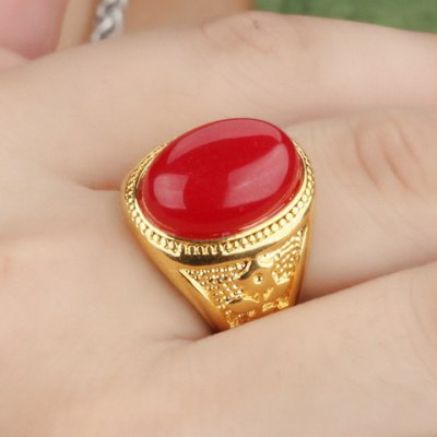 Stunning Exaggerated Faux Agate Ring For Men