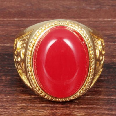 Фотография Stunning Exaggerated Faux Agate Ring For Men