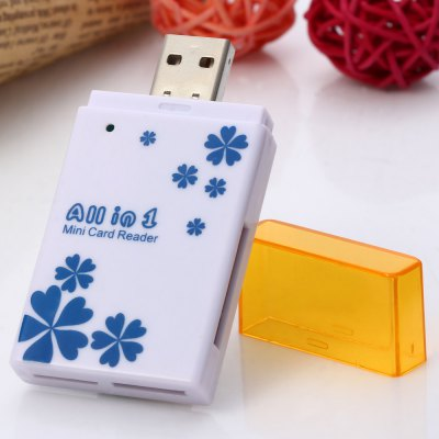 5 in 1 Card Reader Rectangular Diamond Type