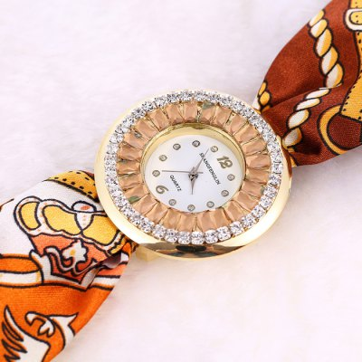 Фотография SHANGFENGLIN 2574 Floral Print Female Quartz Watch