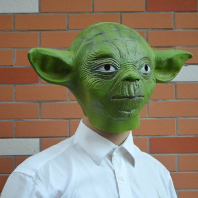 Yoda Mask Party Latex Headgear for Party Cosplay Gift