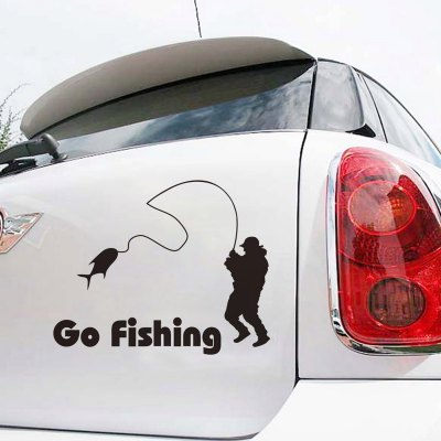 Go Fishing Pattern Removable PVC Wall Stickers