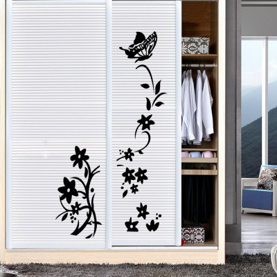 Fashion Flower Vine Style Removable Wall Stickers