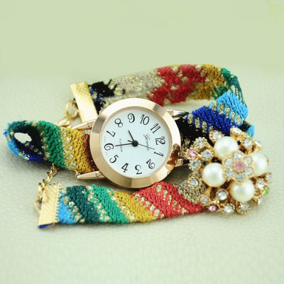 Geneva Flower Design Ladies Woven Woolen Band Quartz WatchWomens Watches<br>Geneva Flower Design Ladies Woven Woolen Band Quartz Watch<br><br>Brand: Geneva<br>Watches categories: Female table<br>Style: Bracelet, Fashion&amp;Casual<br>Movement type: Quartz watch<br>Shape of the dial: Round<br>Display type: Analog<br>Case material: Alloy<br>Band material: Woolen<br>Clasp type: Hook buckle<br>The dial thickness: 0.6 cm / 0.24 inches<br>The dial diameter: 2.8 cm / 1.1 inches<br>Product weight: 0.029 kg<br>Package weight: 0.079 kg<br>Product size (L x W x H) : 20 x 2.8 x 0.6 cm / 7.86 x 1.10 x 0.24 inches<br>Package size (L x W x H): 21 x 3.8 x 1.6 cm / 8.25 x 1.49 x 0.63 inches<br>Package contents: 1 x Geneva Watch