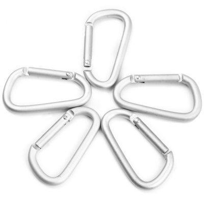 6D D-shaped Magnesium Aluminum Alloy CarabinerCarabiner<br>6D D-shaped Magnesium Aluminum Alloy Carabiner<br><br>Material: Magnesium Aluminum Alloy<br>Color: Silver<br>Best Use: Mountaineering, Climbing, Backpacking, Hiking<br>Tensile Load: 2kg<br>Product Weight: 0.008 kg<br>Package Weight: 0.106 kg<br>Product Dimension: 5.7 x 3.0 x 0.6 cm / 2.24 x 1.18 x 0.24 inches<br>Package Dimension: 11.8 x 9.5 x 1.8 cm / 4.64 x 3.73 x 0.71 inches<br>Package Contents: 10 x 0.6cm D-shaped Magnesium Aluminum Alloy Carabiner