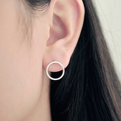 Pair of Trendy Solid Color Hollow Out Round Shape Earrings For Women