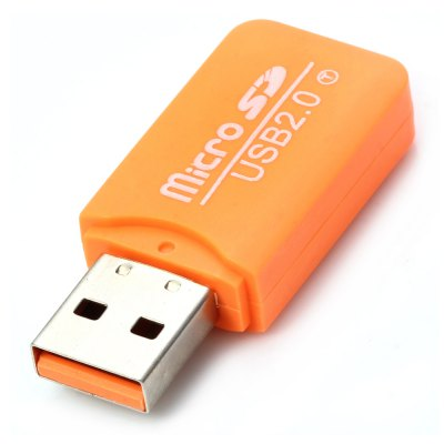 Large Cool Ice Type USB 2.0 Micro SD TF Card Reader
