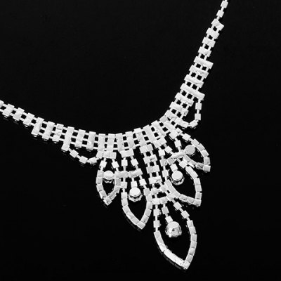 A Suit of Chic Rhinestoned Necklace Ring Bracelet and Earrings For WomenNecklaces &amp; Pendants<br>A Suit of Chic Rhinestoned Necklace Ring Bracelet and Earrings For Women<br><br>Item Type: Pendant Necklace<br>Gender: For Women<br>Style: Trendy<br>Shape/Pattern: Others<br>Weight: 0.089KG<br>Package Contents: 1 x Necklace 1 x Ring 1 x Bracelet 1 x Earring (Pair)