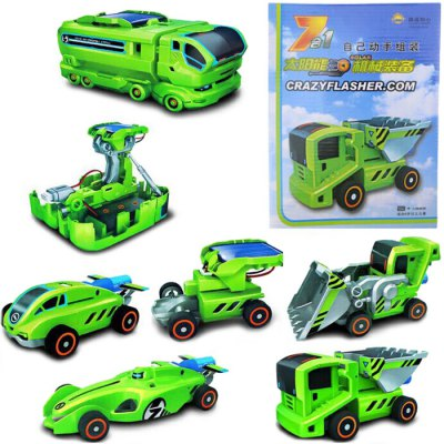 A1 — 8 Solar Vehicle Block Seven-in-one Green Energy Toy Kit Intelligent Toy Kit DIY Fun Game