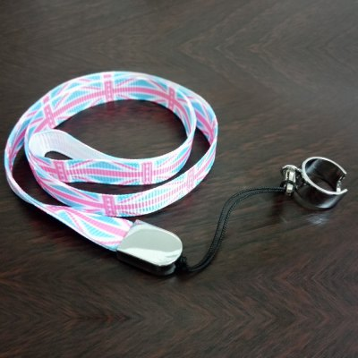 Flag Pattern eGo Lanyard with Ring Clip for E Cigarette